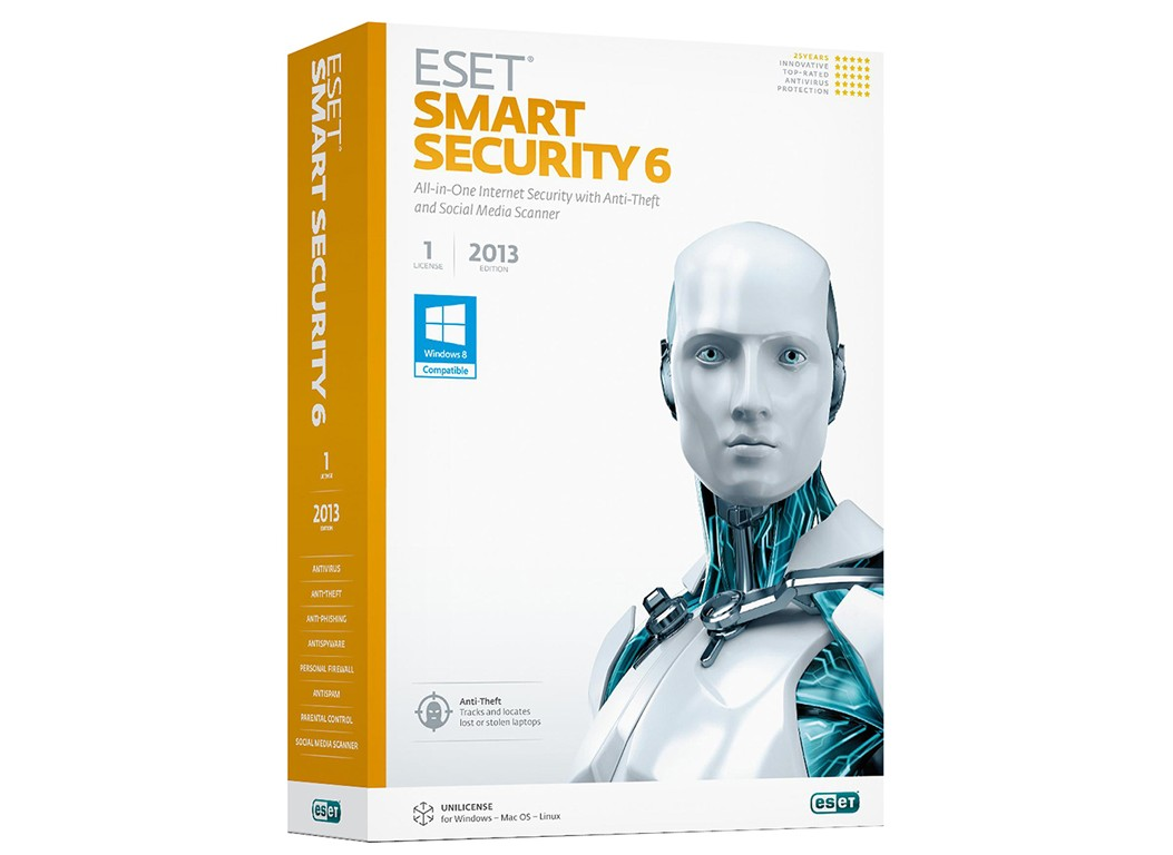 Eset smart security 6 1 year electronic license